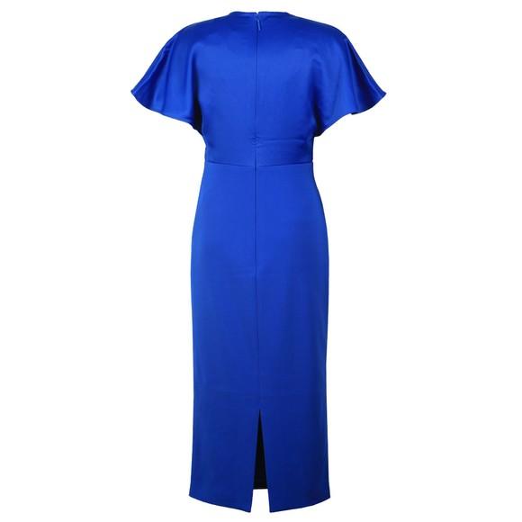 Ted Baker Womens Blue Ellame Wrap Over Full Dress