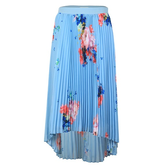 Ted Baker Womens Blue Harrpa Raspberry Ripple Pleated Skirt