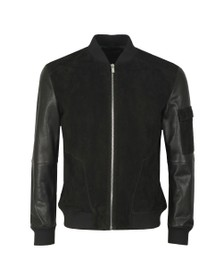 HUGO Mens Black Lunis Leather Jacket