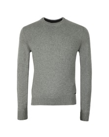 BOSS Mens Grey Casual Ambotrevo Knit Jumper