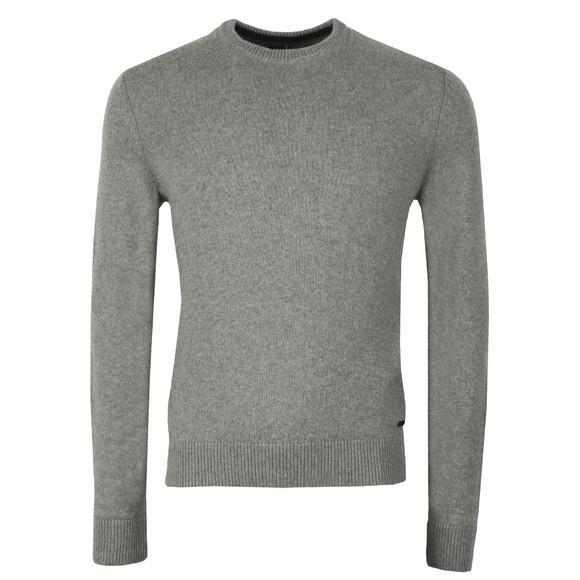 BOSS Mens Grey Casual Ambotrevo Knit Jumper