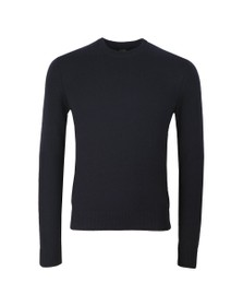 BOSS Mens Blue Casual Ambotrevo Knit Jumper