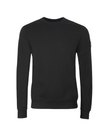 BOSS Mens Black Casual Walkup Sweatshirt