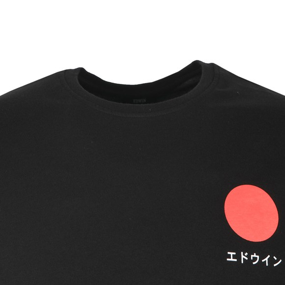 Edwin Mens Black Japanese Sun T Shirt main image