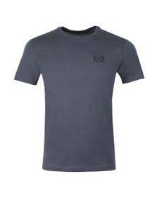 EA7 Emporio Armani Mens Blue Logo Tee