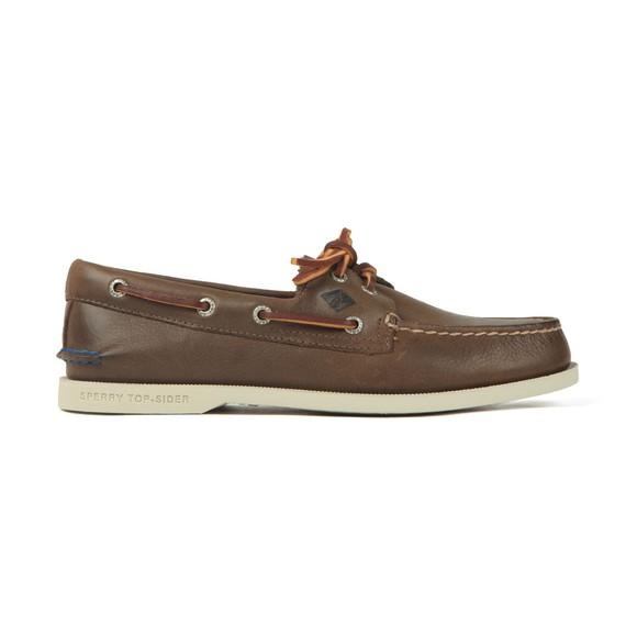 Sperry Mens Brown A/O 2 Eye Plush Boat Shoe main image