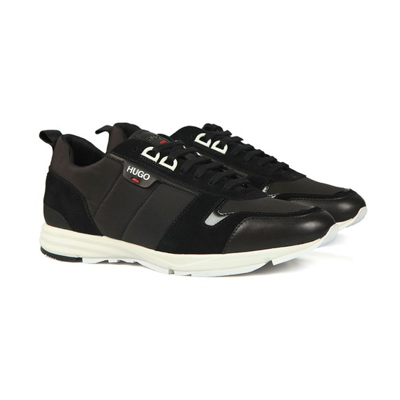 HUGO Mens Black Hybrid Runner Nylt Trainer main image