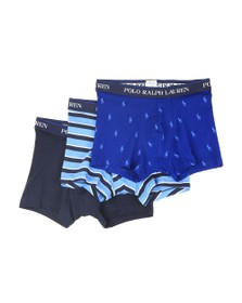 Polo Ralph Lauren Mens Blue 3 Pack Stretch Cotton Trunk