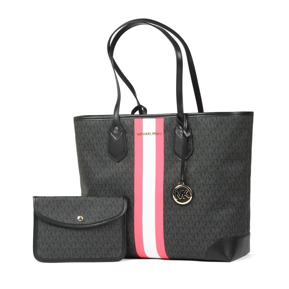 Eva Large Stripe Tote Bag main image