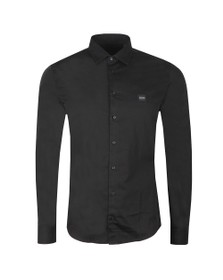 BOSS Mens Black Casual Mypop Plain Shirt