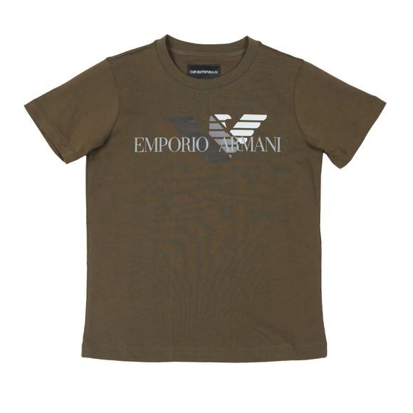 Emporio Armani Boys Green Boys 6G4DJD Large Logo T Shirt main image