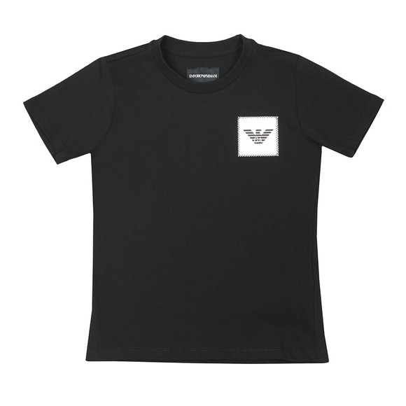 Emporio Armani Boys Black Boys Patch Logo T Shirt