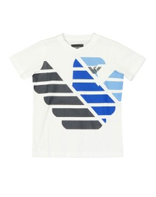 Emporio Armani Boys White Boys 6G4DJD Large Logo T Shirt