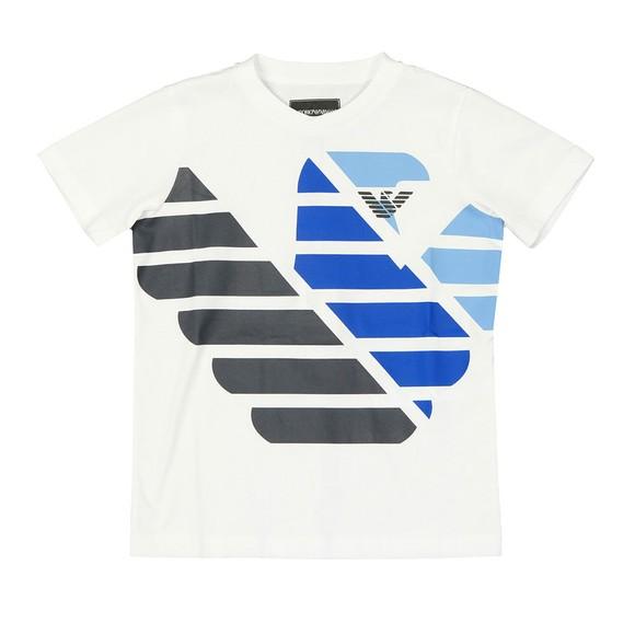 Emporio Armani Boys White Boys 6G4DJD Large Logo T Shirt main image