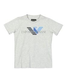 Emporio Armani Boys Grey Boys 6G4DJD Large Logo T Shirt