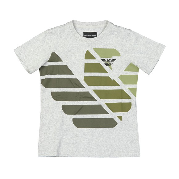 Emporio Armani Boys Grey Boys 6G4DJD Large Logo T Shirt main image
