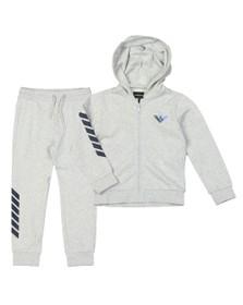 Emporio Armani Boys Grey Full Zip Logo Tracksuit