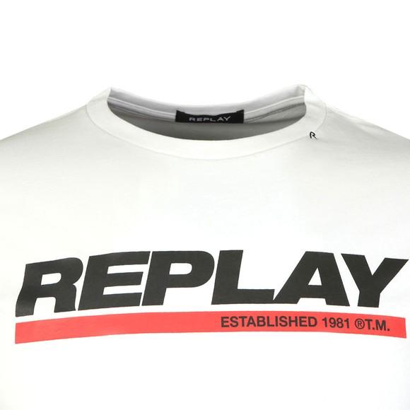 Replay Mens White Logo Tee main image