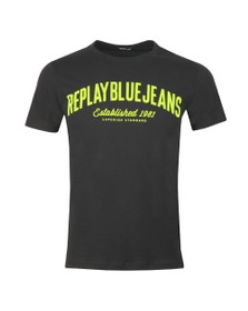 Replay Mens Black Bright Logo T-Shirt