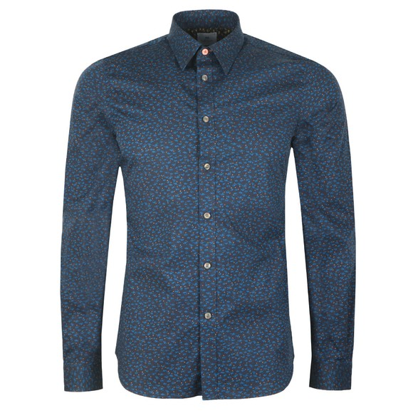 PS Paul Smith Mens Blue Pattern Shirt