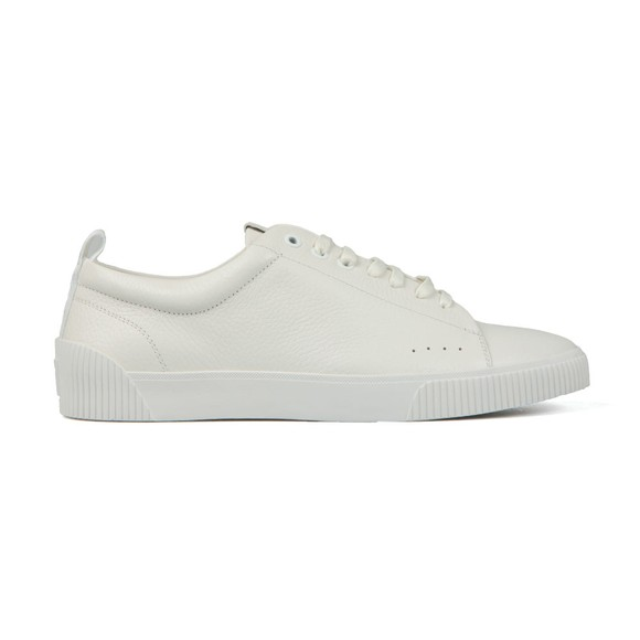 HUGO Mens White Zero Grain Tennis Trainer main image