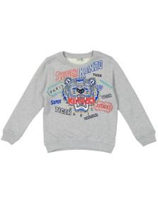 Kenzo Kids Boys Grey Super Kenzo Tiger Sweatshirt