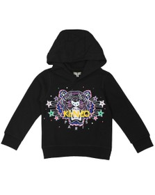 Kenzo Kids Girls Black Star & Spot Tiger Hoody