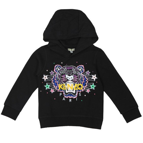Kenzo Kids Girls Black Star & Spot Tiger Hoody main image