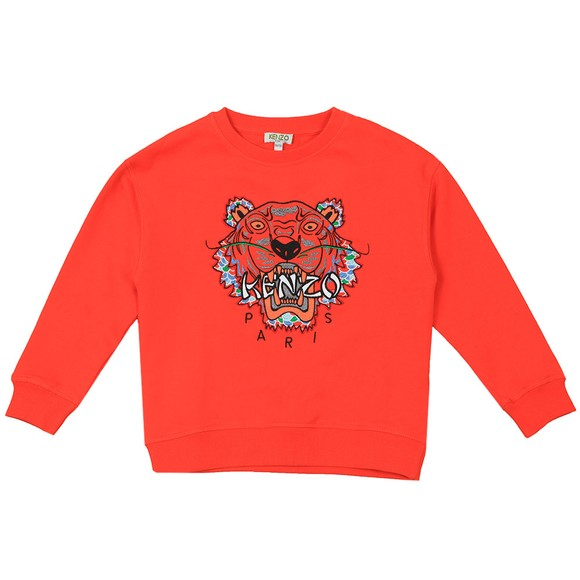 Kenzo Kids Boys Orange Japanese Dragon Tiger Sweatshirt