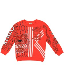 Kenzo Kids Boys Orange Gomer Japanese Dragon Sweatshirt
