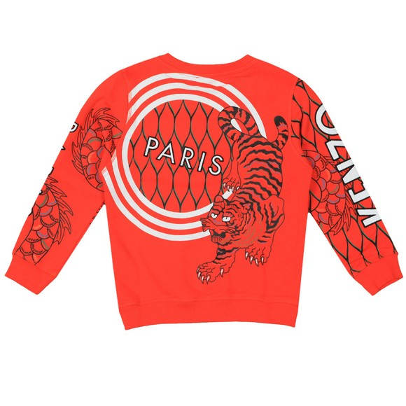 Kenzo Kids Boys Orange Gomer Japanese Dragon Sweatshirt main image