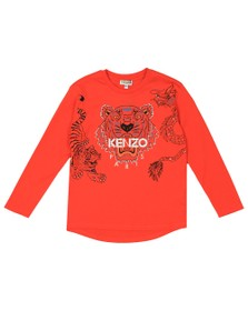 Kenzo Kids Boys Orange Boys Japanese Dragon Tiger T Shirt
