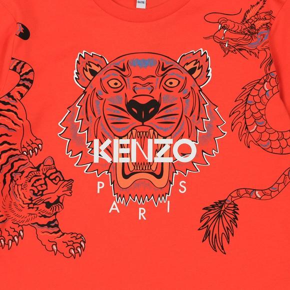 Kenzo Kids Boys Orange Boys Japanese Dragon Tiger T Shirt main image