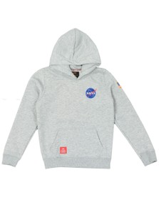 Alpha Industries Boys Grey Boys Space Shuttle Hoody