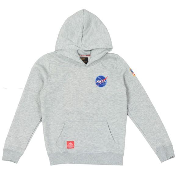 Alpha Industries Boys Grey Boys Space Shuttle Hoody main image