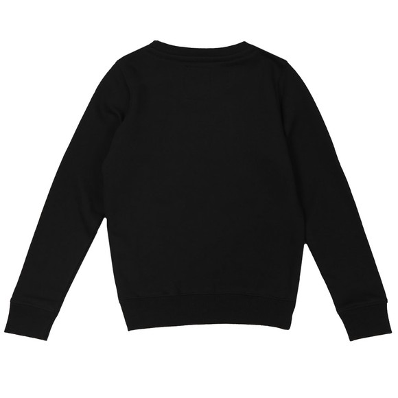 Alpha Industries Boys Black Boys Nasa Reflective Sweatshirt main image