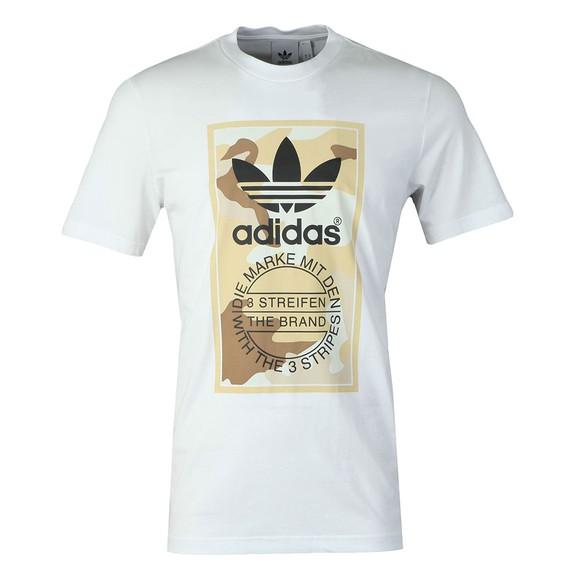 adidas Originals Mens White Camo Tee main image