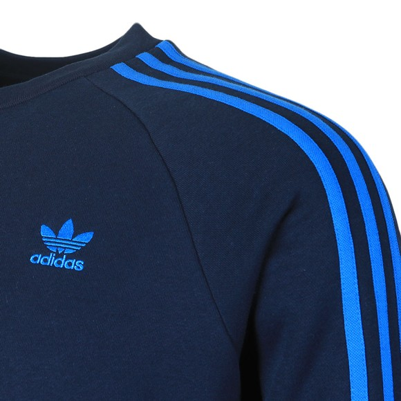 adidas Originals Mens Blue 3 Stripes Sweat main image