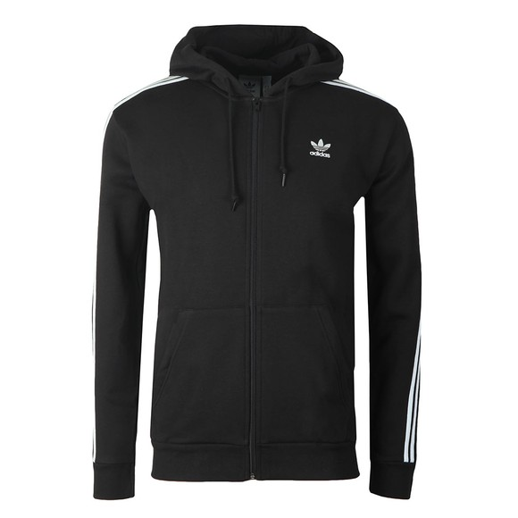 adidas Originals Mens Black 3 Stripes Hoodie