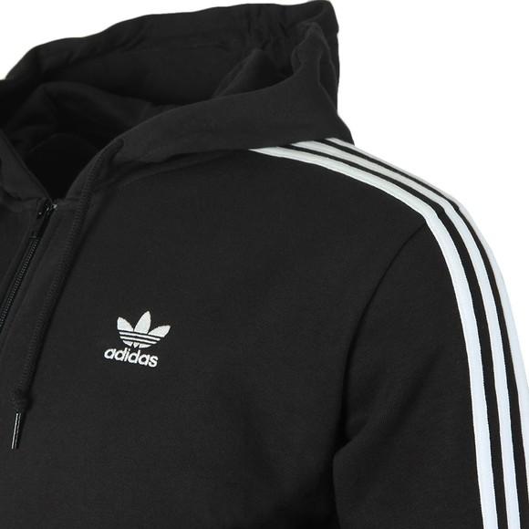 adidas Originals Mens Black 3 Stripes Hoodie main image