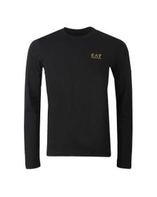 EA7 Emporio Armani Mens Black Core LS T-Shirt