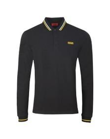 HUGO Mens Black Donol194  Long Sleeve Polo Shirt