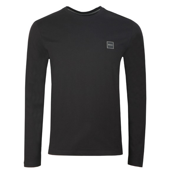 BOSS Mens Black Casual Tacks Long Sleeve T Shirt