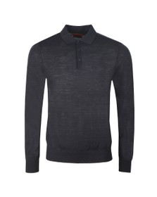 HUGO Mens Black San Giovanni Knitted Polo Shirt