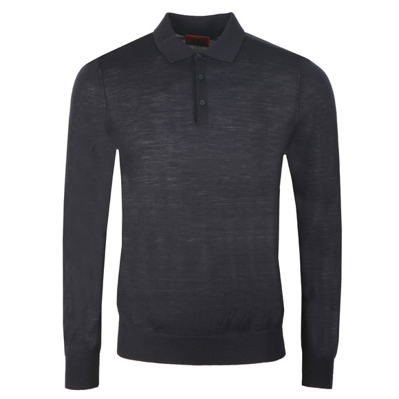HUGO Mens Black San Giovanni Knitted Polo Shirt main image
