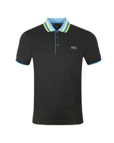 BOSS Mens Black Athleisure Paddy 1 Polo Shirt