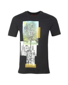 HUGO Mens Black Dennai T Shirt