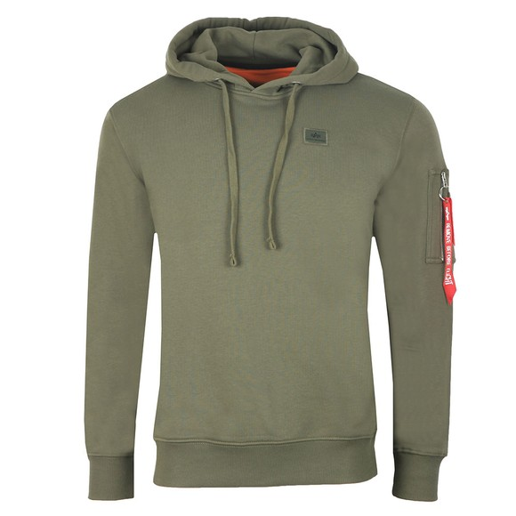 Alpha Industries Mens Green X Fit Hoody main image