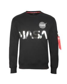 Alpha Industries Mens Black NASA Reflective Sweat