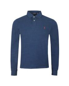 Polo Ralph Lauren Mens Blue Long Sleeve Slim Fit Polo Shirt